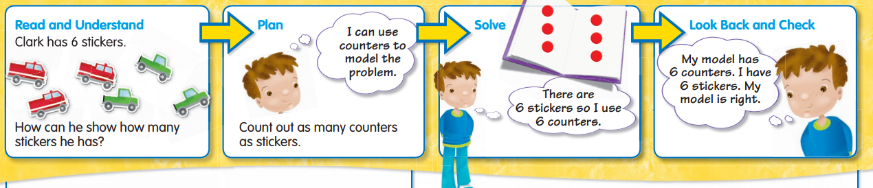 Envision Math Grade 1 Answers Topic 1.6 Use Objects 1