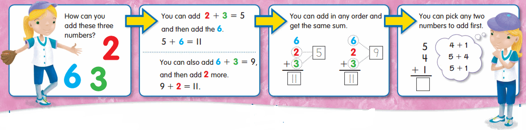 Envision Math Grade 2 Answers Topic 2.5 Adding Three Numbers 5
