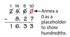 Envision Math Grade 5 Answers Topic 2.6 Subtracting Decimals 4