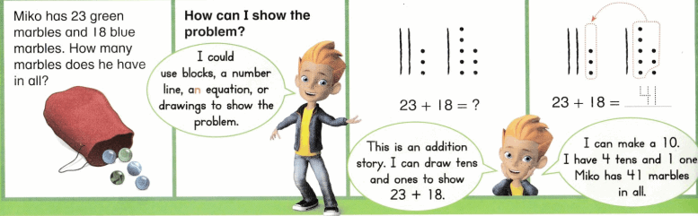 Envision Math Common Core 1st Grade Answer Key Topic 10 Use Models and Strategies to Add Tens and Ones 70.3