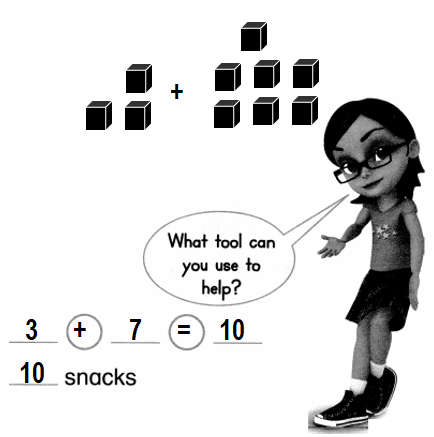 Envision-Math-Common-Core-1st-Grade-Answers-Key-Topic-1-Understand-Addition-and-Subtraction-Lesson 1.7 Change Unknown-Use Tools-6