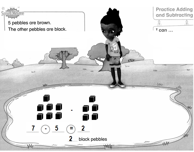 Envision-Math-Common-Core-1st-Grade-Answers-Key-Topic-1-Understand-Addition-and-Subtraction-Lesson 1.8 Practice Adding and Subtracting