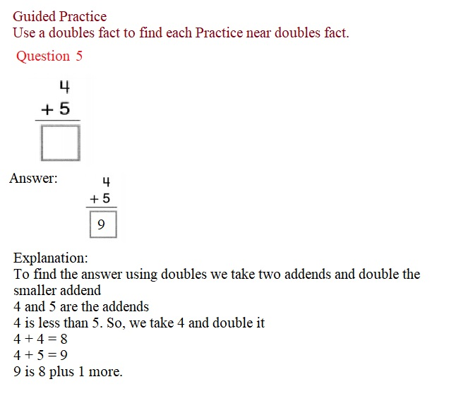 Envision-Math-Common-Core-1st-Grade-Answers-Key-Topic-2-Fluently-Add-and-Subtract-Within-10-Lesson-2.3-Near-Doubles-Guided-Practice-Question-5