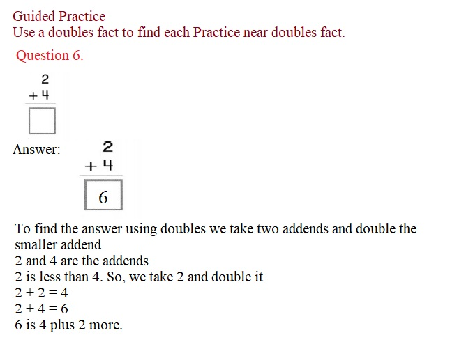 Envision-Math-Common-Core-1st-Grade-Answers-Key-Topic-2-Fluently-Add-and-Subtract-Within-10-Lesson-2.3-Near-Doubles-Guided-Practice-Question-6
