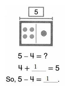 Envision-Math-Common-Core-1st-Grade-Answers-Key-Topic-2-Fluently-Add-and-Subtract-Within-10-Lesson-2.7-Think –Addition-to-Subtract-Guided-Practice- Question-1