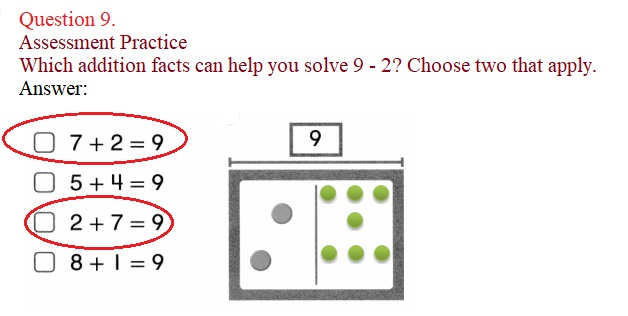 Envision-Math-Common-Core-1st-Grade-Answers-Key-Topic-2-Fluently-Add-and-Subtract-Within-10-Lesson-2.7-Think –Addition-to-Subtract-Problem-Solving- Question-9