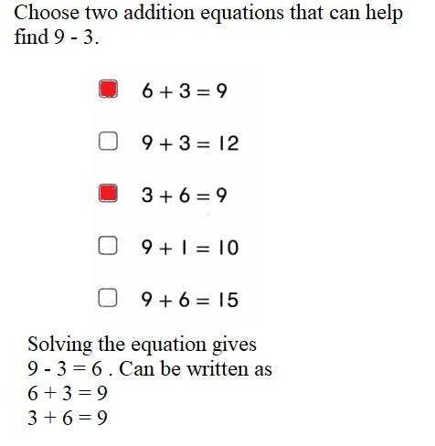 Envision-Math-Common-Core-1st-Grade-Answers-Key-Topic-2-Fluently-Add-and-Subtract-Within-10-Lesson-2.9-Look-For-and-Use-Structure-Topic-2-Assessment-Practice-Question-9