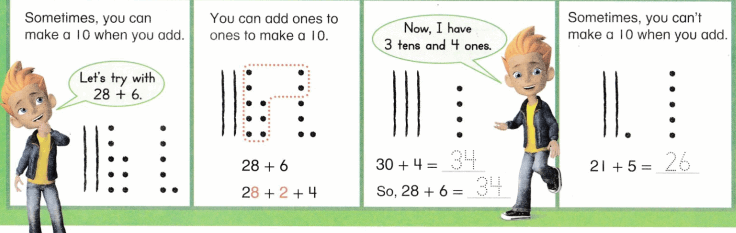 Envision Math Common Core 1st Grade Answers Topic 10 Use Models and Strategies to Add Tens and Ones 40.2