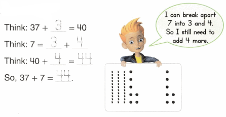 Envision Math Common Core 1st Grade Answers Topic 10 Use Models and Strategies to Add Tens and Ones 40.3