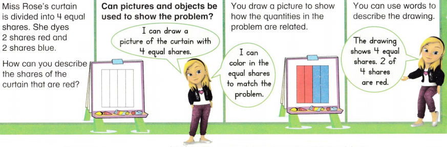 Envision Math Common Core 1st Grade Answers Topic 15 Equal Shares of Circles and Rectangles 53