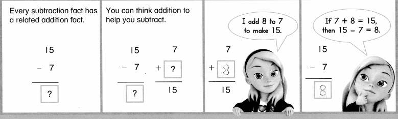 Envision Math Common Core 1st Grade Answers Topic 4 Subtraction Facts to 20 Use Strategies 7.10