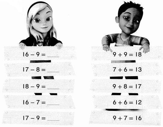 Envision Math Common Core 1st Grade Answers Topic 4 Subtraction Facts to 20 Use Strategies 7.9