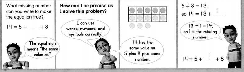 Envision Math Common Core 1st Grade Answers Topic 5 Work with Addition and Subtraction Equations 45