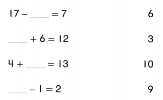 Envision Math Common Core 1st Grade Answers Topic 5 Work with Addition and Subtraction Equations 9