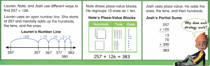 Envision Math Common Core 2nd Grade Answer Key Topic 10 Add Within 1,000 Using Models and Strategies 12.4