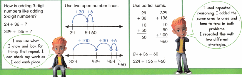 Envision Math Common Core 2nd Grade Answer Key Topic 10 Add Within 1,000 Using Models and Strategies 13.4
