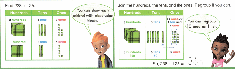Envision Math Common Core 2nd Grade Answers Topic 10 Add Within 1,000 Using Models and Strategies 7.15