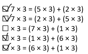 Envision-Math-Common-Core-3rd-Grade-Answers-Key-Topic-3-Apply-Properties-Multiplication-Facts-for 3, 4, 6, 7, 8-Lesson 3.1 The Distributive Property-Assessment Practice-18