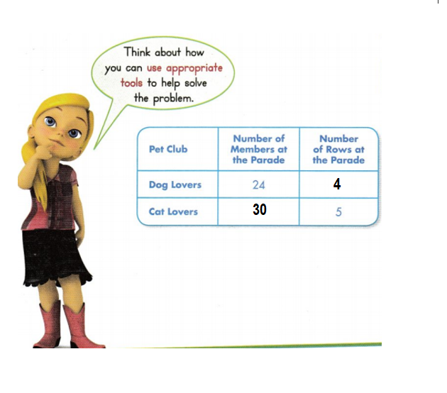 Envision-Math-Common-Core-3rd-Grade-Answers-Key-Topic-4-Use-Multiplication-to-Divide-Lesson 5.4 Solve Word Problems- Multiplication and Division Facts