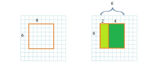 Envision-Math-Common-Core-3rd-Grade-Answers-Key-Topic-6-Connect-Area-to-Multiplication-and-Addition-Lesson-6.5-Apply-Properties-Area-and-the-Distributive-Property-Guided-Practice-Question-1