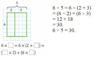 Envision-Math-Common-Core-3rd-Grade-Answers-Key-Topic-6-Connect-Area-to-Multiplication-and-Addition-Lesson-6.5-Apply-Properties-Area-and-the-Distributive-Property-Guided-Practice-Question-3