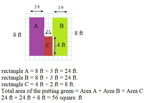 Envision-Math-Common-Core-3rd-Grade-Answers-Key-Topic-6-Connect-Area-to-Multiplication-and-Addition- Lesson-6.6-Apply-Properties-Area-of-Irregular-Shapes-Guided-Practice-Question-1