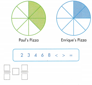 Envision Math Common Core 3rd Grade Answers Topic 13 Fraction Equivalence and Comparison 46