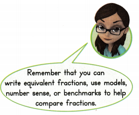Envision Math Common Core 3rd Grade Answers Topic 13 Fraction Equivalence and Comparison 62