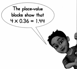 Envision Math Common Core 5th Grade Answers Topic 4 Use Models and Strategies to Multiply Decimals 13.6