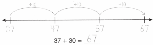 Envision Math Common Core Grade 1 Answer Key Topic 10 Use Models and Strategies to Add Tens and Ones 30.7