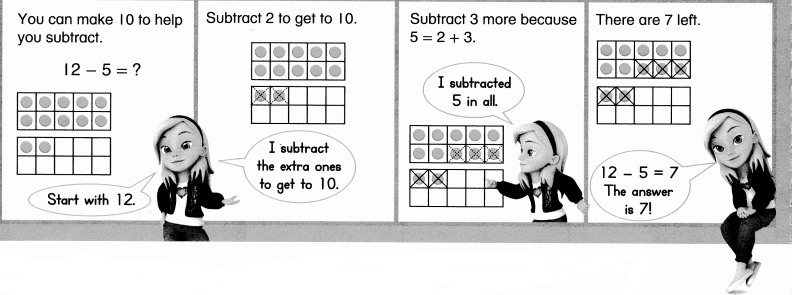 Envision Math Common Core Grade 1 Answer Key Topic 4 Subtraction Facts to 20 Use Strategies 6.12