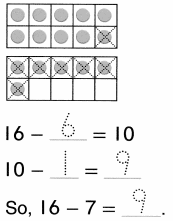 Envision Math Common Core Grade 1 Answer Key Topic 4 Subtraction Facts to 20 Use Strategies 6.13