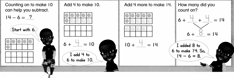 Envision Math Common Core Grade 1 Answer Key Topic 4 Subtraction Facts to 20 Use Strategies 6.26