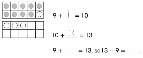 Envision Math Common Core Grade 1 Answer Key Topic 4 Subtraction Facts to 20 Use Strategies 6.27