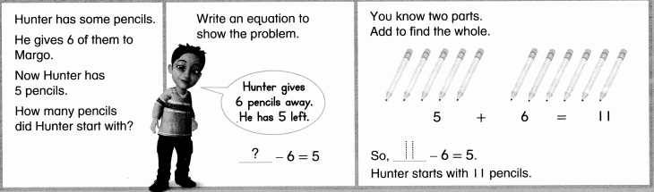 Envision Math Common Core Grade 1 Answers Topic 4 Subtraction Facts to 20 Use Strategies 8.19