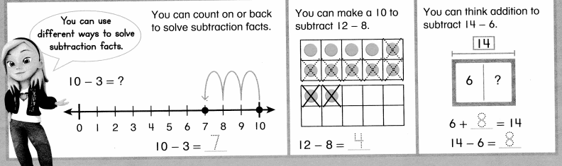 Envision Math Common Core Grade 1 Answers Topic 4 Subtraction Facts to 20 Use Strategies 8.3