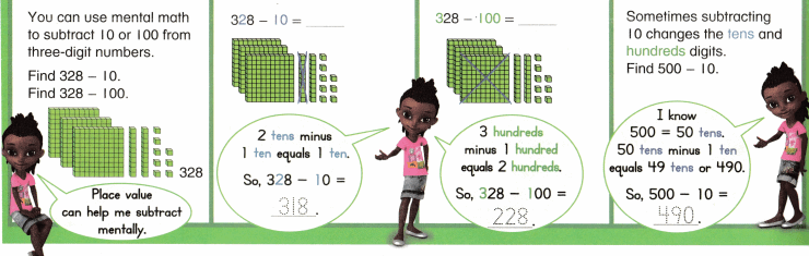 Envision Math Common Core Grade 2 Answer Key Topic 11 Subtract Within 1,000 Using Models and Strategies 2.8