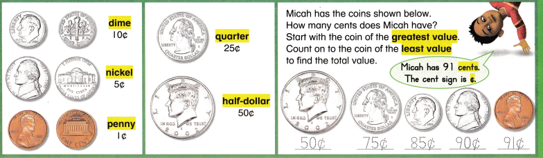 Envision Math Common Core 2nd Grade Answer Key Topic 8 Work with Time and Money 10
