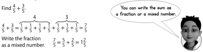 Envision Math Common Core 4th Grade Answer Key Topic 9 Understand Addition and Subtraction of Fractions 35