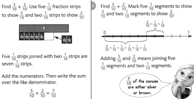 Envision Math Common Core 4th Grade Answer Key Topic 9 Understand Addition and Subtraction of Fractions 9