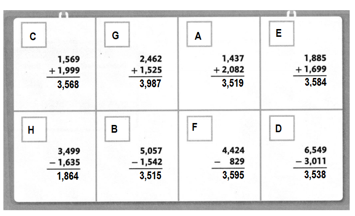 Envision-Math-Common-Core-4th-Grade-Answers-Key-Topic-11-Represent-and-Interpret-Data-on-Line-Plots-Lesson 11.4 Problem Solving-Topic 11 Fluency Practice Activity-Find a Match