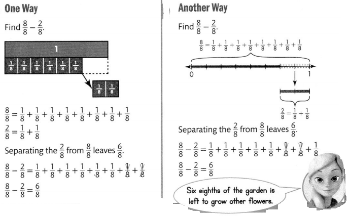 Envision Math Common Core 4th Grade Answers Topic 9 Understand Addition and Subtraction of Fractions 40