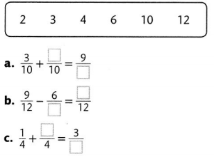 Envision Math Common Core 4th Grade Answers Topic 9 Understand Addition and Subtraction of Fractions 68
