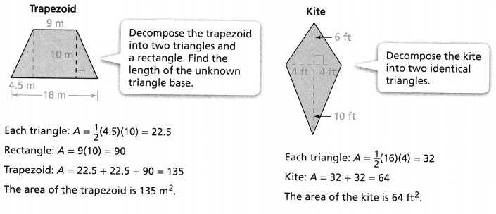 Envision Math Common Core 6th Grade Answers Topic 7 Solve Area, Surface Area, And Volume Problems 55