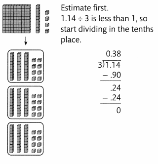 Envision Math Common Core Grade 5 Answers Topic 6 Use Model Strategies to Divide Decimals 60.1