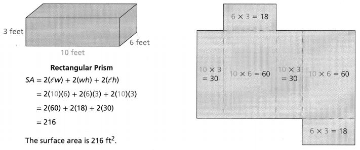 Envision Math Common Core Grade 6 Answer Key Topic 7 Solve Area, Surface Area, And Volume Problems 127