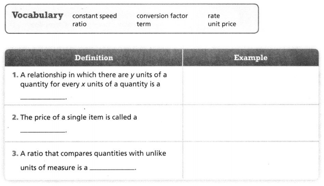 Envision Math Common Core Grade 6 Answers Topic 5 Understand And Use Ratio And Rate 137