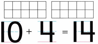 Envision Math Common Core Grade K Answer Key Topic 10 Compose and Decompose Numbers 11 to 19 3.8