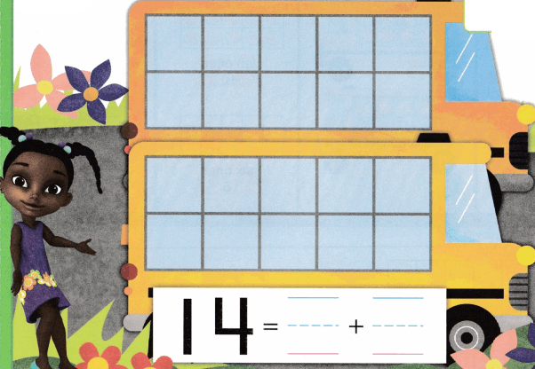 Envision Math Common Core Grade K Answer Key Topic 10 Compose and Decompose Numbers 11 to 19 6.5