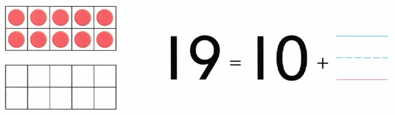 Envision Math Common Core Grade K Answers Topic 10 Compose and Decompose Numbers 11 to 19 10.3